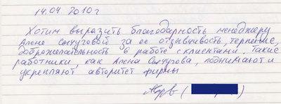 Отзыв 14.04.2010