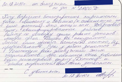 Отзыв 20.12.2010
