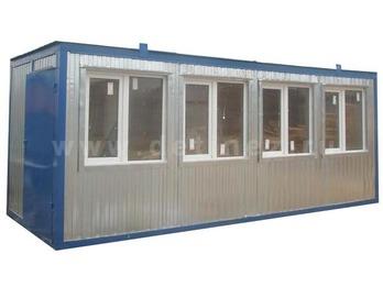 Блок-контейнер 6х2,5м 4 окна металлическая дверь