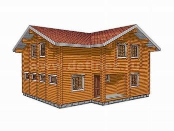 Дом из бревна 1341
