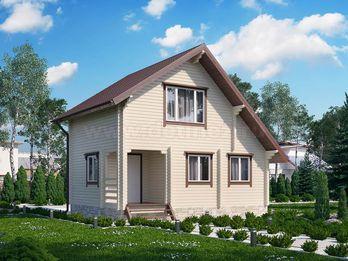 Дачный дом 1421 из бруса