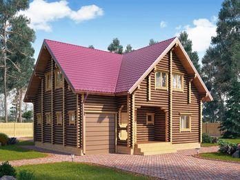 Дом из оцилиндрованного бревна 124 10х11м
