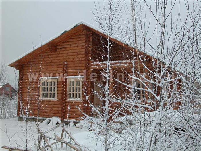 Одноэтажный дом из бревна 50