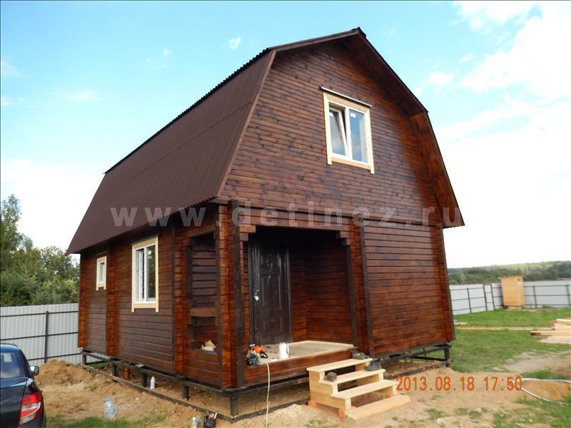 Дом из клееного бруса 138 6х7м