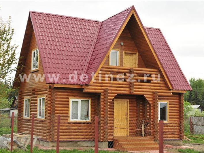 Дачный дом 383 из бревна