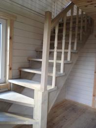Деревянная лестница (фото 46)