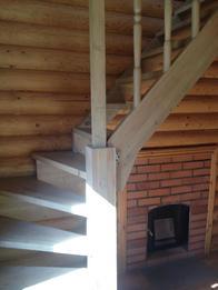 Деревянная лестница (фото 52)