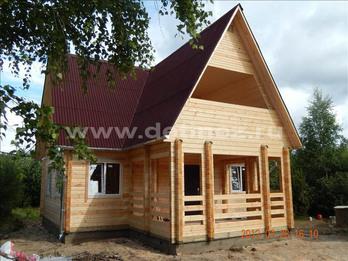 Фото 1222 - дом из бруса  6х9м