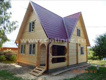 Фото 1225 - дом из бруса  6х8м