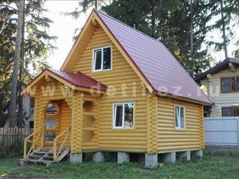 Дом из оцилиндрованного бревна 5х6м