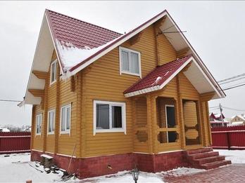 Фото 1106 - дом из бруса 8х9м