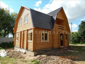 Фото 1200 - дом из бревна 8х8