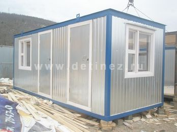 Блок-контейнер с двумя помещениями