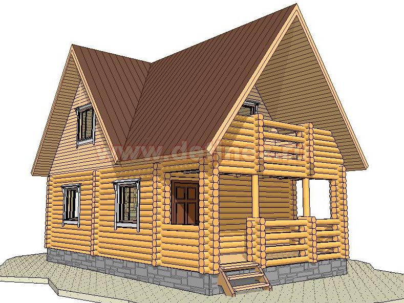 Дом 1360 из бревна