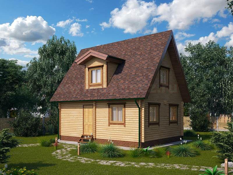 Дачный дом из бруса 1422
